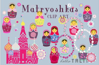 MATRYOSHKAS CLIP ART