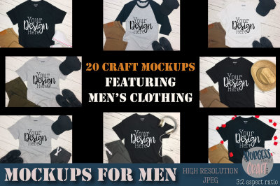 Men's clothing Craft mock ups | High Resolution JPEG's