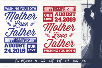 Happy Anniversary - AI SVG DXF PDF EPS PNG JPG