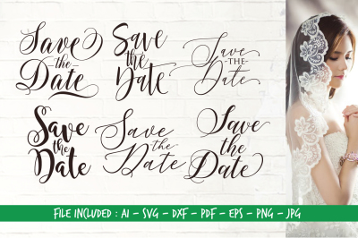 Save The Date - AI SVG DXF PDF EPS PNG JPG
