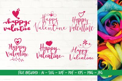 Happy Valentine - AI SVG DXF PDF EPS PNG JPG