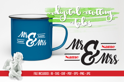 Mr & Mrs Cutting Files – AI SVG DXF PDF EPS PNG JPG