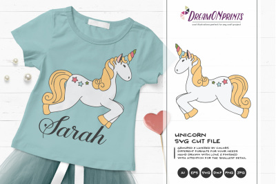 Unicorn SVG Cut File