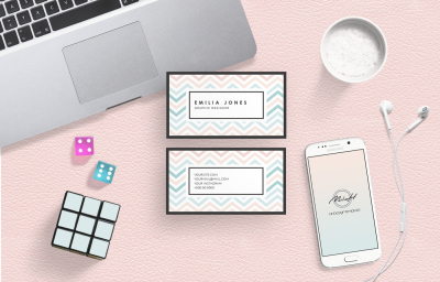 Pastel Colors Card Template /Business Card / Calling Card / Name Card