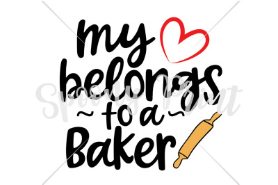my heart belongs to a baker