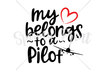 my heart belongs to a pilot