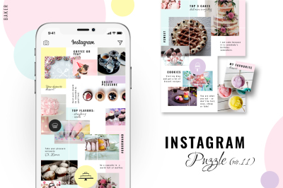 Instagram PUZZLE template - Baker