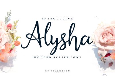 Alysha // Modern Script Font