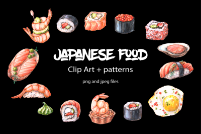 Japanese food – clip art