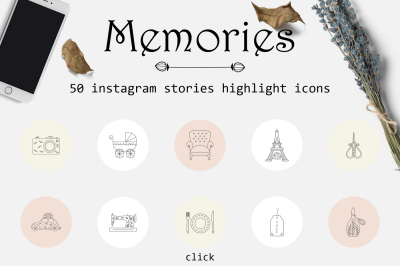 Memories - Instagram stories highlights icons