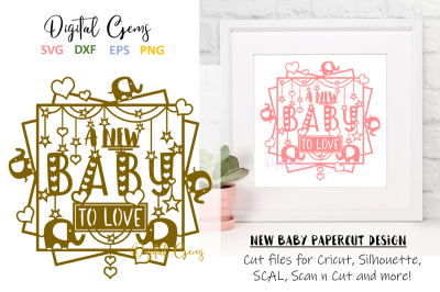 A new baby papercut design