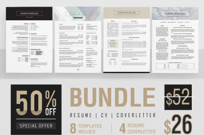 Professional Resume CoverLetter Bundle Template M