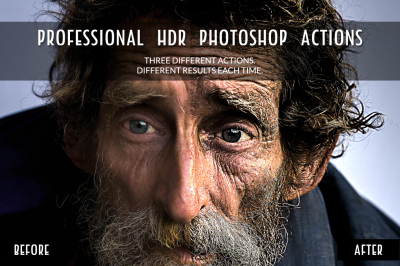 3 Professional HDR Photoshop Actions