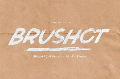 Brushot - 4 font collection + swash