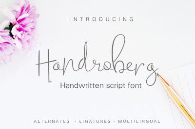 Handroberg Font