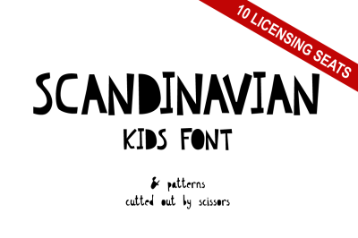 Scandinavian Kids Font - 10 Licensing Seats