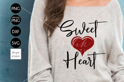 Sweet Heart Valentine SVG File