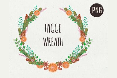 Christmas Hygge Wreath New Year