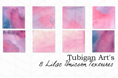 Purple/Lilac Unicorn Watercolor Digital Paper / Textures