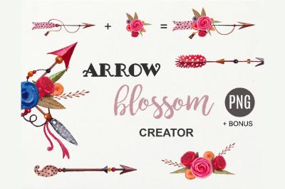 tribal arrows, arrow clipart, boho