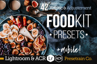 FoodKit - Food Presets Bundle for Lightroom & ACR, Desktop & Mobile