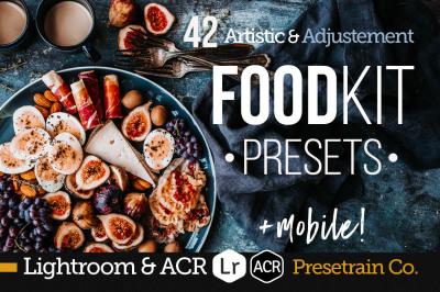 FoodKit - Food Presets Bundle for Lightroom & ACR, Desktop & Mobile