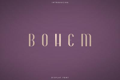 Bohem - Display font | 2 styles