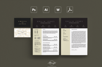 Professional Resume Template /Card Template /FREE Coverletter