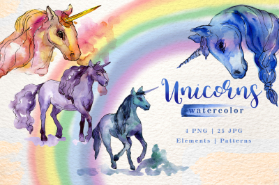 Unicorn Watercolor png