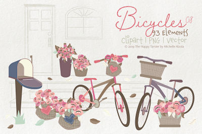 Bicycles 08 - Clipart, PNG & Vector Graphics