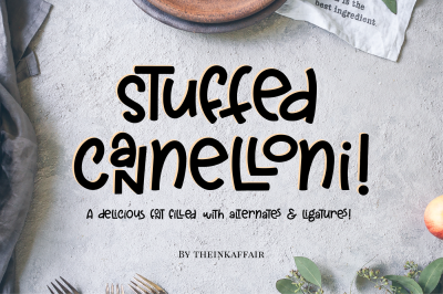 Stuffed Cannelloni - A fun font!