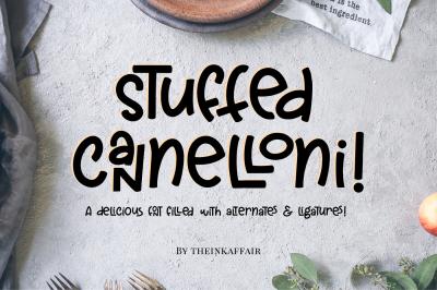 Stuffed Cannelloni - A fun font!
