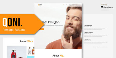 Qoni - Personal PSD Template