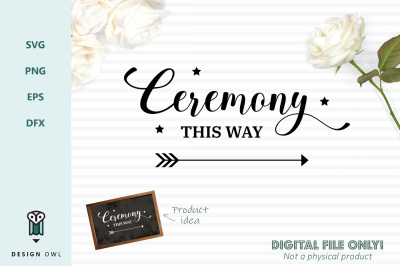 Ceremony this way - SVG file
