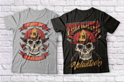 Firefighters t-shirts set