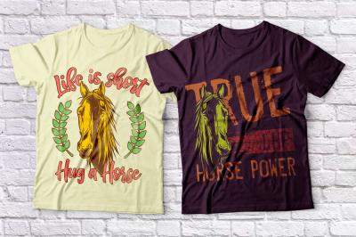 Horses t-shirts set
