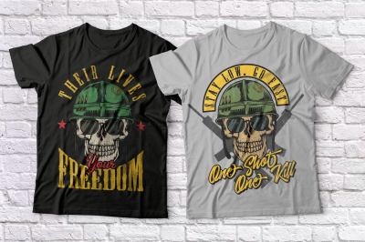 Warriors and bikers T-shirts set