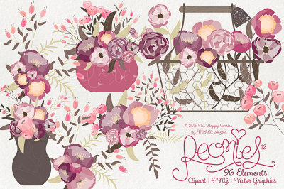 Peonies 016 - Clipart, PNG & Vector Graphics