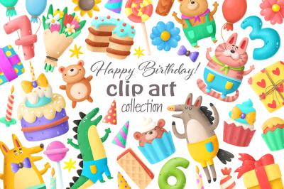 Birthday clip art collection