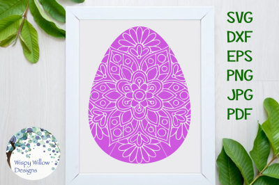 Easter Egg Mandala SVG