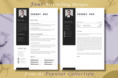 Resume CV Template Bundle Popular Collection