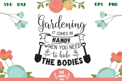 Gardening Sign SVG Cut File
