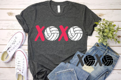 XOXO Volleyball svg Love  ball valentine's day 1171S