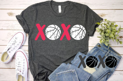 XOXO Basketball Tackle Svg Love Tackle valentine's day svg 1172S