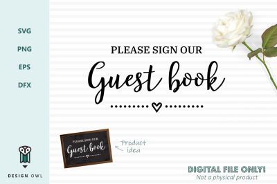 Please sign our guest book - SVG file