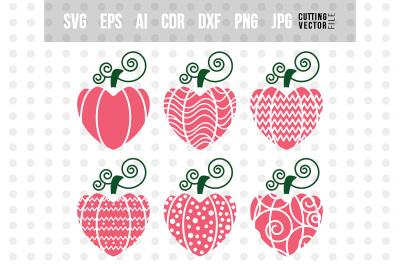 Valentine's Hearts Bundle- svg, eps, ai, cdr, dxf, png, jpg
