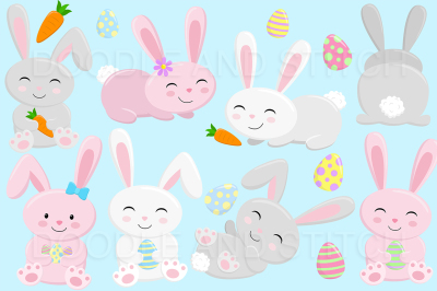 Easter Bunny Clipart Designs