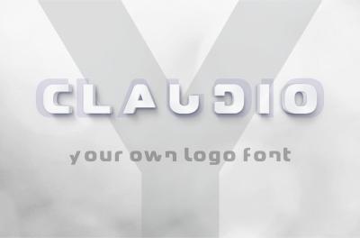 Claudio - Logo design multilingual typeface modern font.