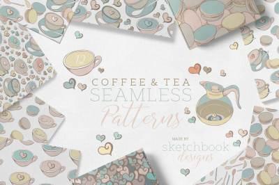 COFFEE & TEA SEAMLESS PATTERN SET