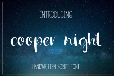 Cooper Night Brush Script Font